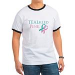 TEALkled Pink Ringer T