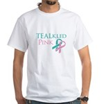 TEALkled Pink White T-Shirt