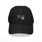 TEALkled Pink Black Cap