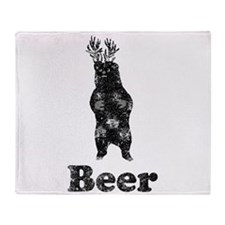 Vintage Beer Bear 1 Throw Blanket