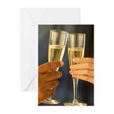 Champagne Hands Greeting Cards (Pk of 10)