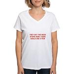 THE BUCK STOPS HERE Women's V-Neck T-Shirt