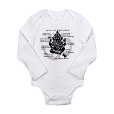 Funny Ganesha Long Sleeve Infant Bodysuit