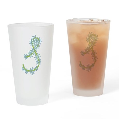 Monogram S Drinking Glass