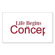 Life begins at conception gifts Decal