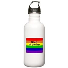 Rainbow bitch of the bar Water Bottle