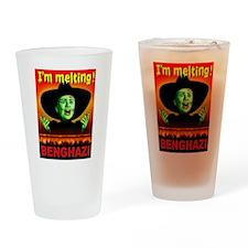 HILLARY LIES Drinking Glass