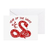 Year Of The Snake Greeting Cards (Pk of 10)