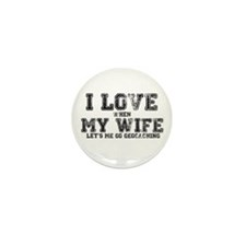 I Love My Wife Mini Button (10 pack)