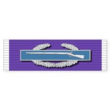 CIB Purple Heart Bumper Sticker