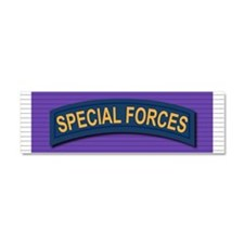 Special Forces Purple Heart Car Magnet 10 x 3