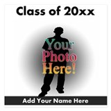Custom Class of Graduation Photo/Name 5.25 x 5.25