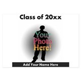 Custom Class of Graduation Photo/Name 3.5 x 5 Flat