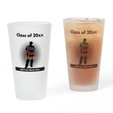 Custom Class of Graduation Photo/Name Drinking Gla