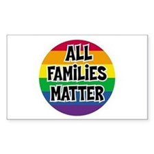 Rainbow all families matter Bumper Stickers