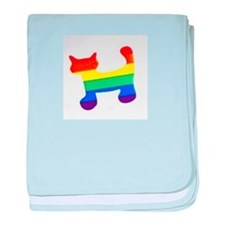 Rainbow cat baby blanket