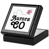 Aurora Colorado Keepsake Box