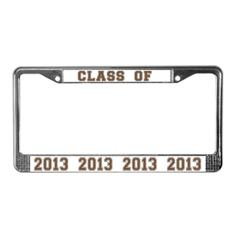 Class Of 2013 License Plate Frame