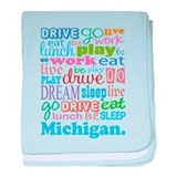 live dream Michigan baby blanket