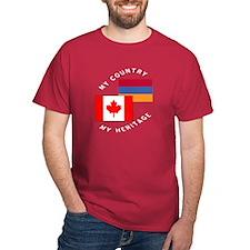 Armenia Canada Flag Heritage T-Shirt