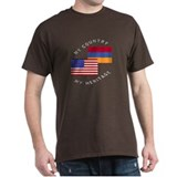 Armenia USA Flag Heritage T-Shirt