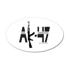 AK-47/SECOND AMENDMENT 35x21 Oval Wall Decal