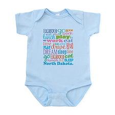live dream North Dakota Infant Bodysuit