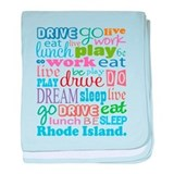 live dream Rhode Island baby blanket