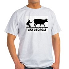 The Ski Georgia Shop Ash Grey T-Shirt