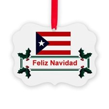 Cute Puerto rico flag Ornament