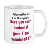 Relationships are like algebra Small Mugs