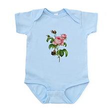 Pierre-Joseph Redoute Rose Infant Bodysuit