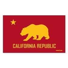 Strk3 California Republic Rectangle Decal