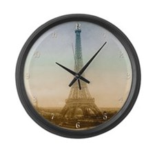 The Eiffel Tower Large Wall Clock