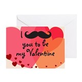 Mustache You Valentine Greeting Card