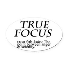 True Focus Oval Car Magnet