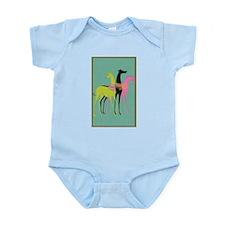 Art Deco Ornate Greyhounds Infant Bodysuit