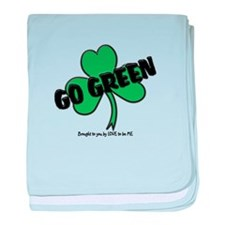 GO GREEN baby blanket