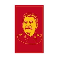 Comrade Stalin Rectangle Decal