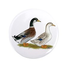 "Appleyard Silver Ducks 3.5"" Button"