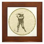 Golfer Framed Tile