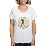 Golfer Women's V-Neck T-Shirt
