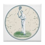 Tennis Player, Vintage Tile Coaster