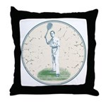 Tennis Player, Vintage Throw Pillow