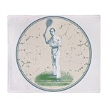 Tennis Player, Vintage Throw Blanket