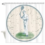 Tennis Player, Vintage Shower Curtain
