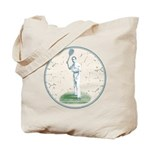 Tennis Player, Vintage Tote Bag