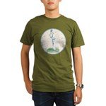 Tennis Player, Vintage Organic Men's T-Shirt (dark