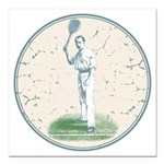 Tennis Player, Vintage Square Car Magnet 3