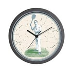 Tennis Player, Vintage Wall Clock